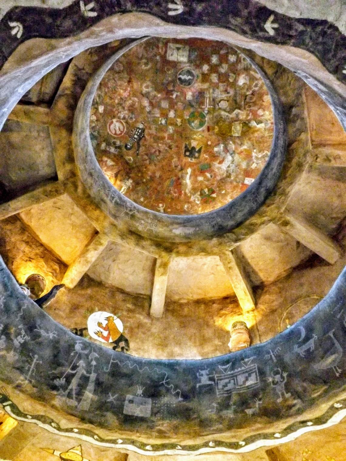 Interior ceiling Desert View Watchtower