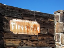 Cool Springs rusted Firestone sign