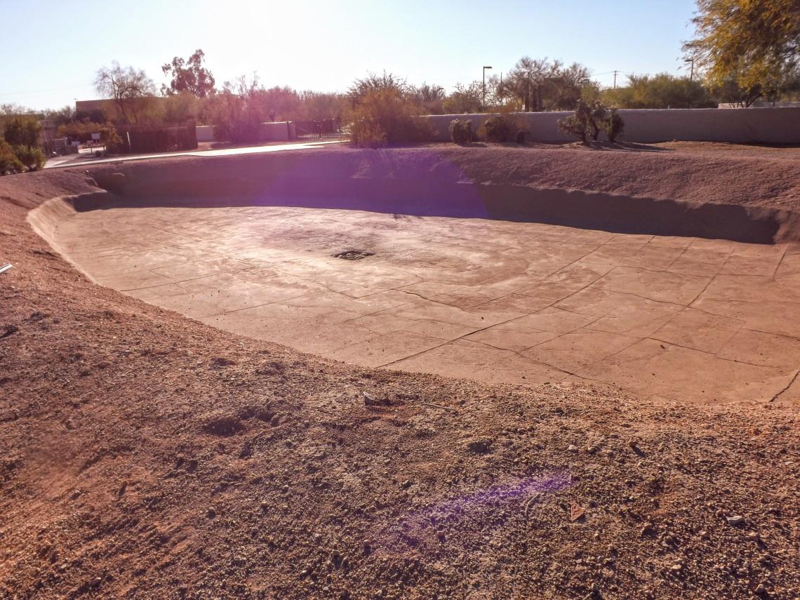 Hohokam ballcourt at Pueblo Grande museum in Phoenix