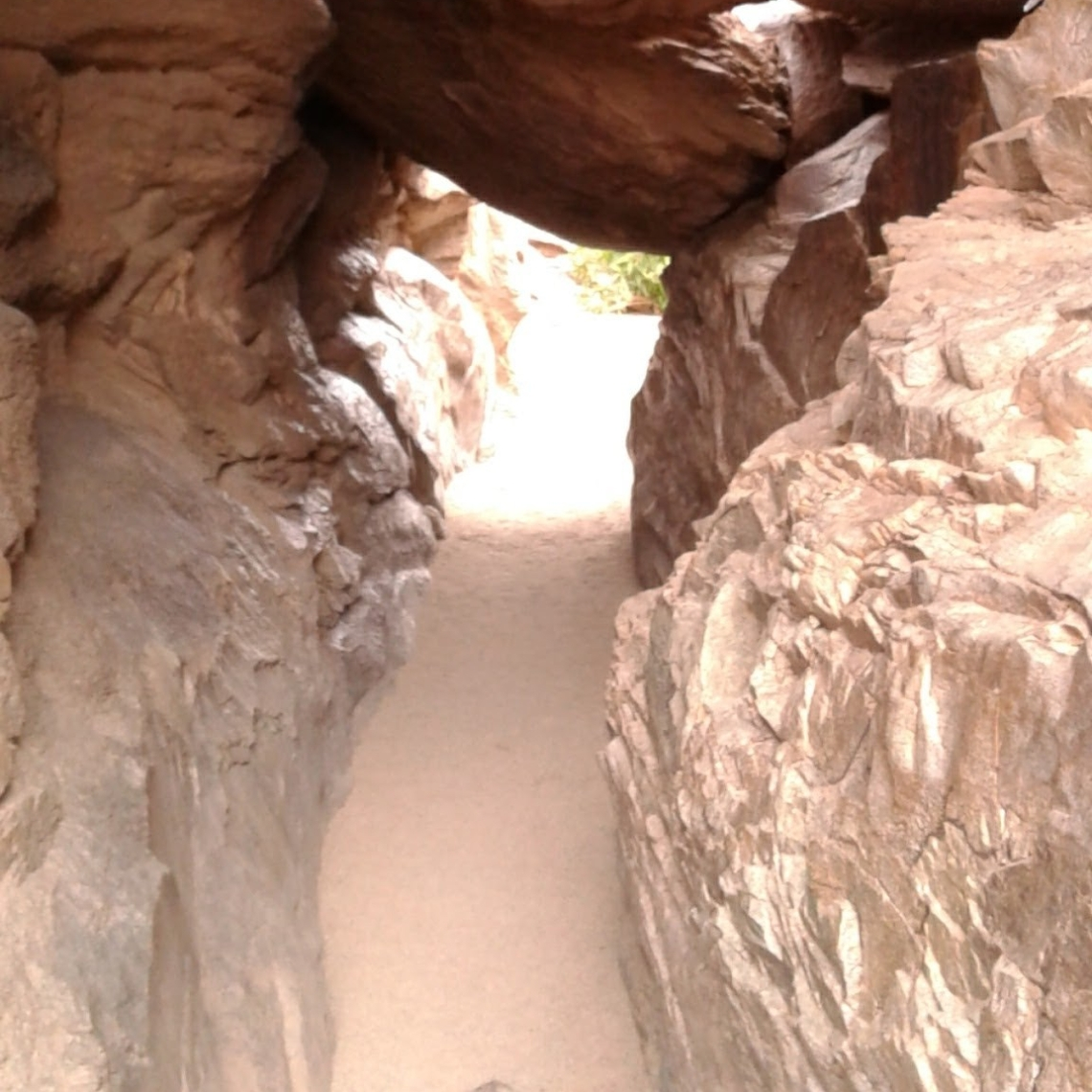 Tunnel carved out of rock